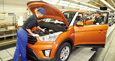 Hyundai Motor launches production of SUV 'Creta' in Russia