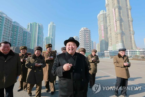 N.K. leader orders completion of new residential areas by April