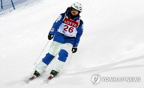 S. Korean female mogul skier earns confidence ahead of PyeongChang Games