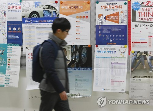 S. Korea's youth jobless rate surpasses that of U.S.
