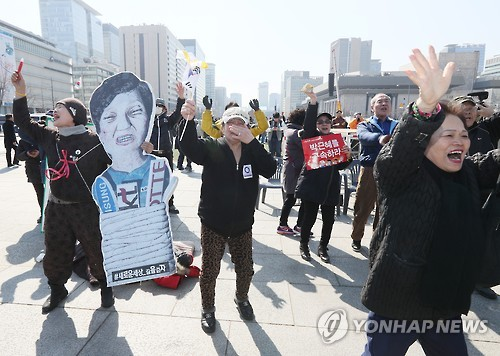 S. Koreans celebrate ouster of scandal-hit Park