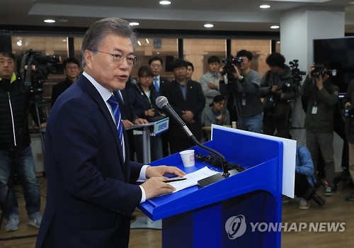 Moon dominates most regions in poll