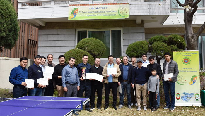Embassy of Turkmenistan hosts friendly table tennis meeting at embassy