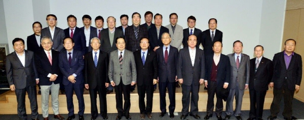 Incumbent, former CEOs, editors of The Korea Herald media have a reunion