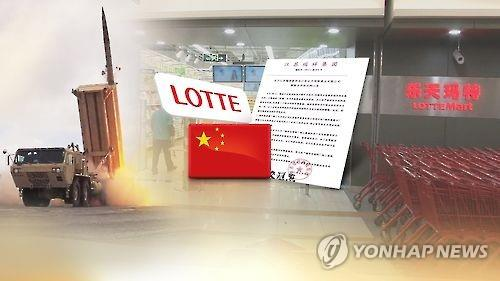 Lotte to suffer 1 tln won losses in sales on China's retaliation