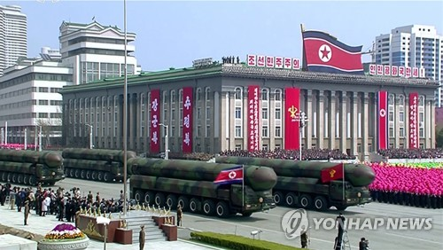 N.K. stages massive military parade on founder's birthday