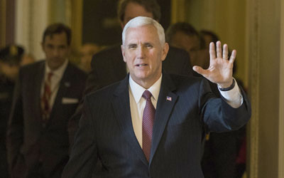 U.S. Vice President Pence to arrive in Seoul Sunday