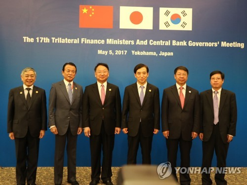 S. Korea, Japan, China vow to resist protectionism