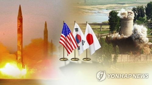 S. Korea, U.S., Japan assure unity against N. Korea's provocation