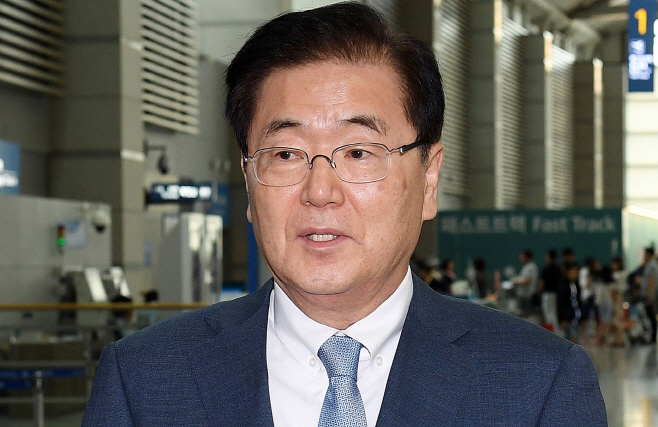 Moon's top security advisor departs for U.S. to discuss summit, N.K. threats