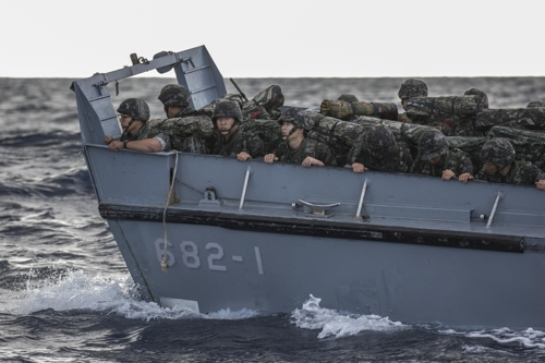 S. Korean Marines hold exercises for eastern island defense