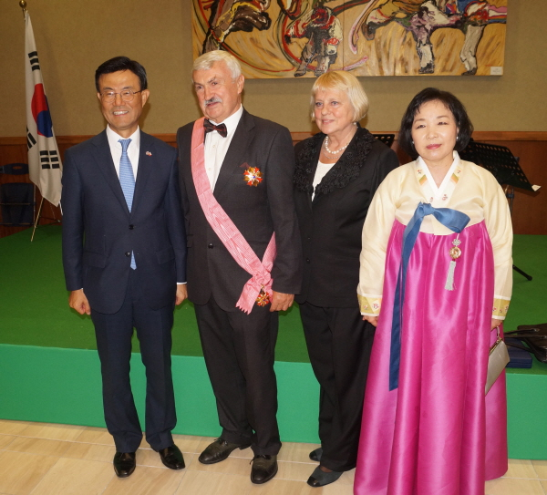 Former Ambassador Majka of Poland honored with highest Diplomatic Medal, Kanghwa