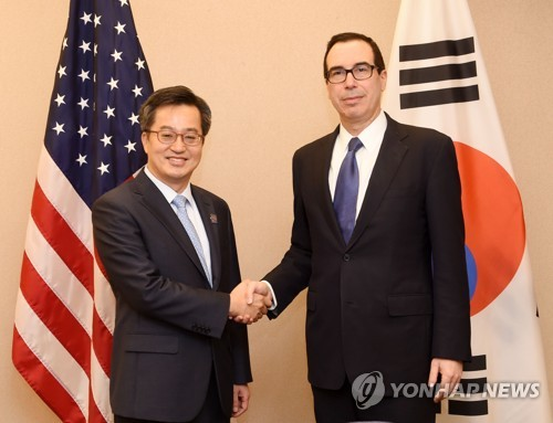 S. Korean, U.S. financial chiefs discuss North Korea, FTA
