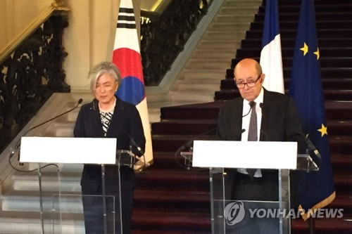 S. Korea, France agree on strong sanctions against N. Korea