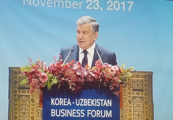 President Mirziyoyev of Uzbekistan accents improved investment conditions in Uzbekistan for Korean investors