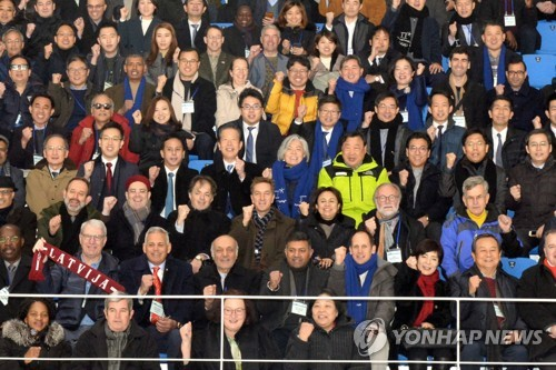 Foreign diplomats visit PyeongChang Olympic sites
