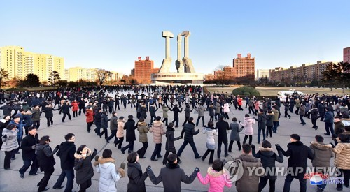 N. Koreans celebrate missile test