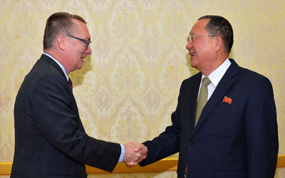 N. Korea foreign minister meets senior U.N. official in Pyongyang