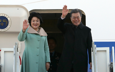 S. Korean president embarks on trip to China