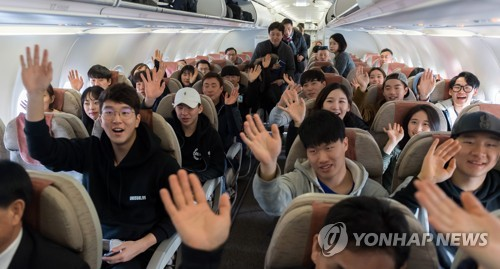 Remaining N.K. Olympic athletes set to come to S. Korea on plane