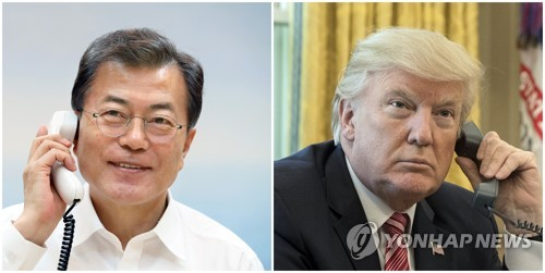 Moon, Trump discuss N.K. human rights issue