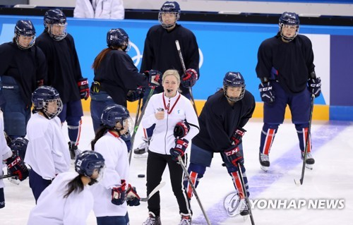 (Olympics) Plenty of fun and games at practice for Korean hockey team