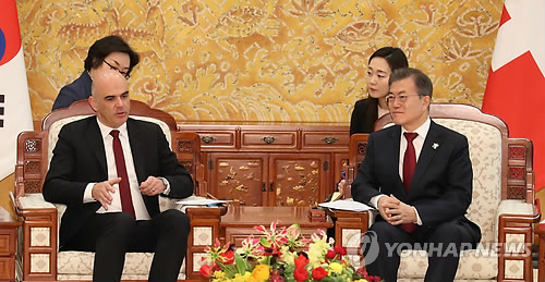 Leaders of S. Korea, Switzerland agree to boost science, technology cooperation