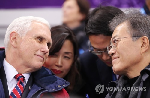 Pence says he and his 'friend' Moon reaffirmed commitment against N.K. nukes