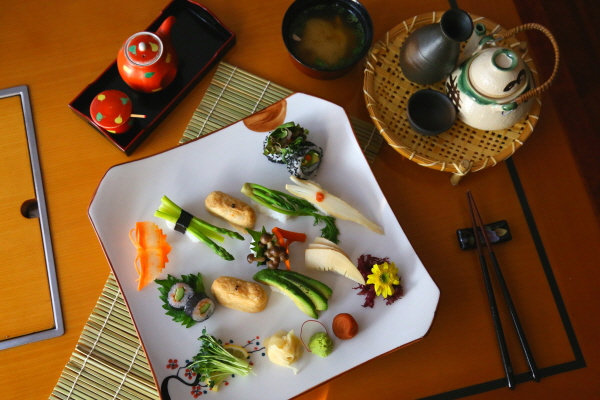 Genji-tarian vitality set for healthy dining