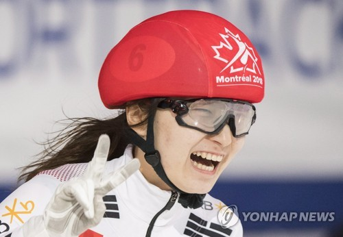 S. Korean Olympic champion grabs 2 gold at short track worlds