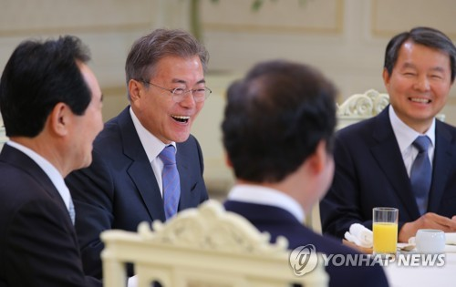 Moon meets top leaders over outcome of historic inter-Korean summit