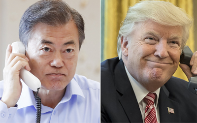 Moon, Trump discuss upcoming U.S.-N. Korea summit