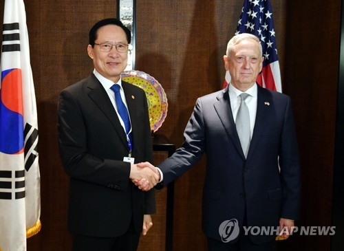 Allies' defense chiefs vow full support for summit diplomacy on N. Korea