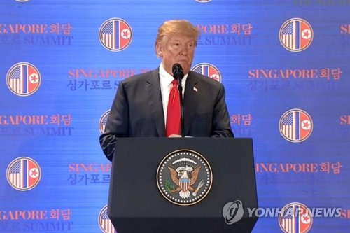 Trump says he will stop 'war games' with S. Korea