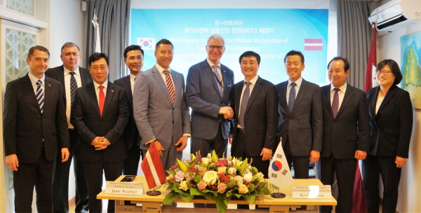 Latvia, Korea sign MOU on a mutual recognition of seafarers' certificates