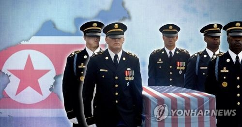 U.S. sends wooden cases to inter-Korean border for return of soldiers' remains