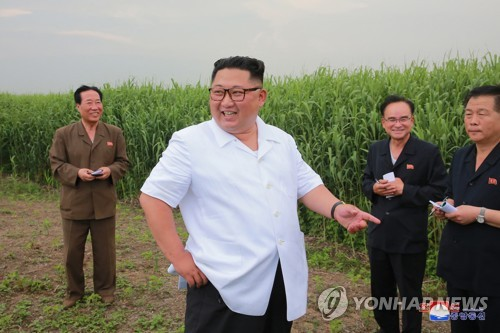 N.K. leader inspects island areas near China