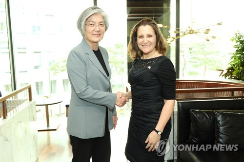 S. Korean, Canadian foreign ministers discuss regional security