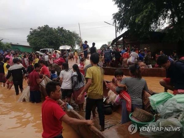 Hundreds missing in dam collapse in Laos, Korean builder joining rescue operations