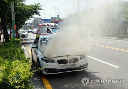 BMW sedan catches fire amid safety concerns over German brand