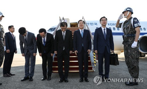 Moon's special envoy embarks on trip to N. Korea