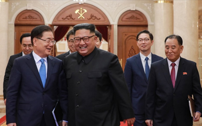 N. Korean leader Kim meets S. Korean president's special delegation