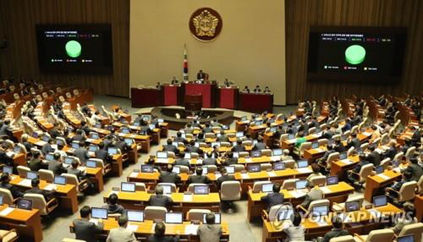 S. Korea's parliament set to hold plenary session to vote on key bills