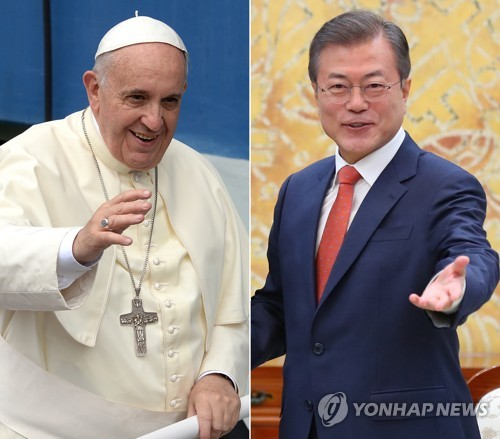 S. Korean president to hold summit with Italian premier, visit Vatican