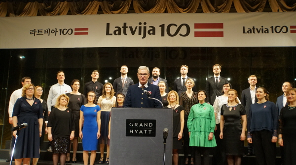 100th National Day reception of Latvia in Seoul