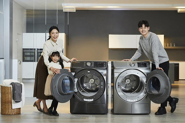 Samsung showcases new front-load dryer launches new front-load dryer