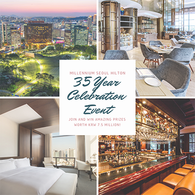 Millennium Seoul Hilton celebrates 35 years with an instagram event