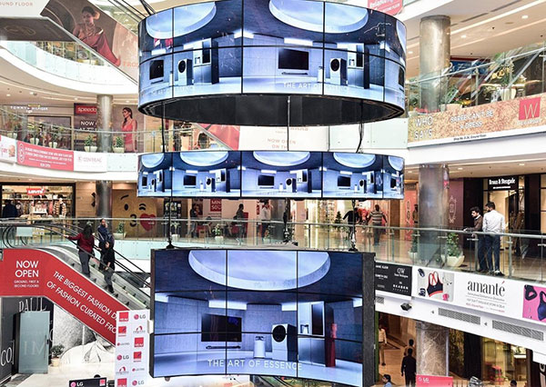 LG installs digital signage in Delhi's largest shopping mall