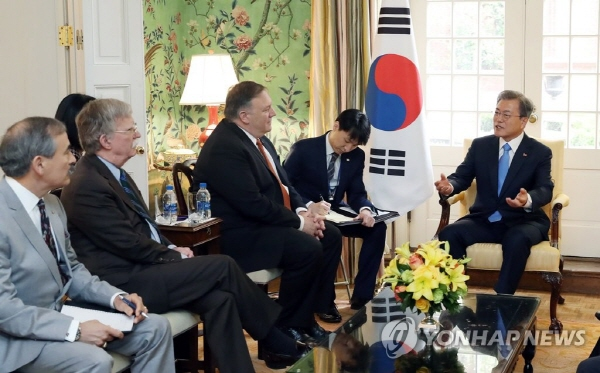 Moon emphasizes need to continue U.S.-N. Korea dialogue
