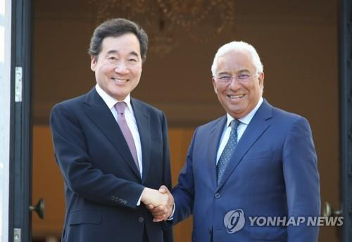 PMs of S. Korea, Portugal vow efforts to boost economic ties
